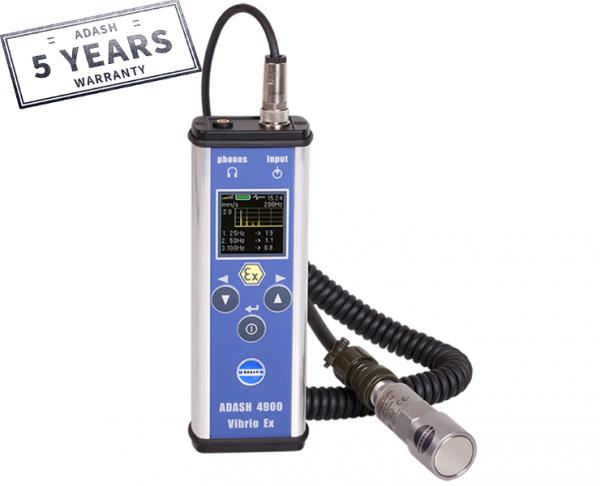 Adash Przenośny miernik drgań w wersji Ex. , Vibration meter, vibration analyser