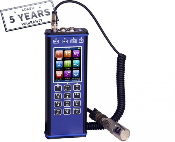 Adash Analizator drgań, miernik drgań, wyważanie, vibration analyser