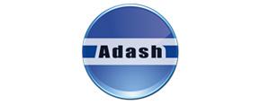 okrągłe logo z napisem adash
