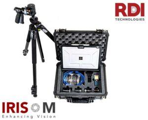 Kamera IRIS M w zestawie walizkowym wraz z całym asortymentem laptop obiektywy
