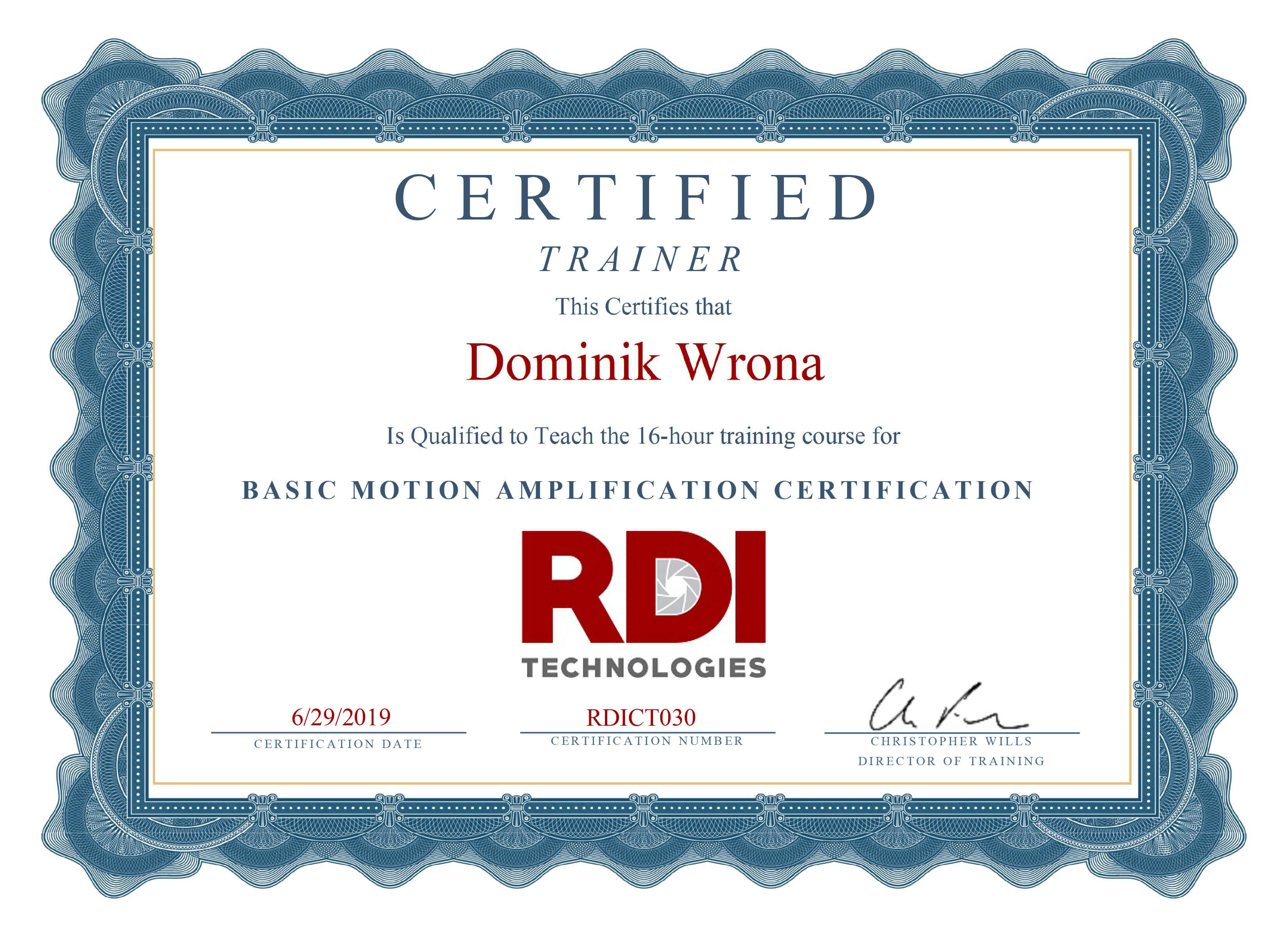 Certified Motion Amplification Technology