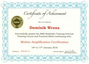 motion amplification certification