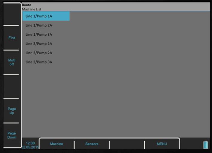 Widok ścieżki pomiarowej w oprogramowaniu Virtual Unit