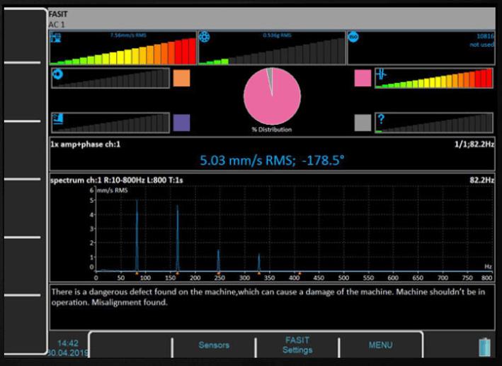 Widok modułu eksperckiego FASIT w oprogramowaniu Virtual Unit